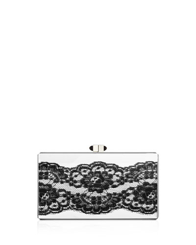 Boudoir Lace-Trimmed Evening Clutch Bag