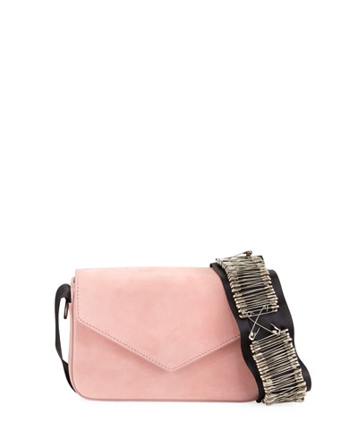 Melissa Pinned Suede Envelope Shoulder Bag