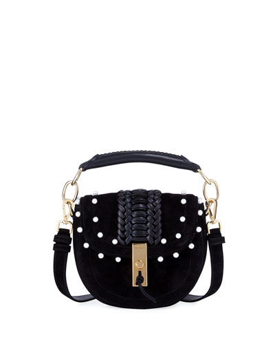 Ghianda Pearly Suede Top-Handle Bag