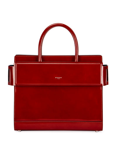 Horizon Small Glazed Leather Tote Bag