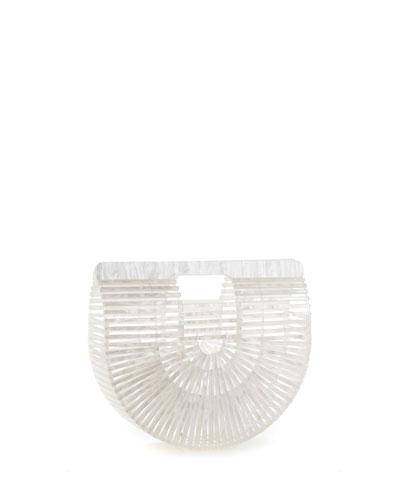 Ark Small Pearlescent Acrylic Clutch Bag