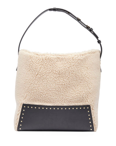 Alter Faux-Shearling Hobo Bag