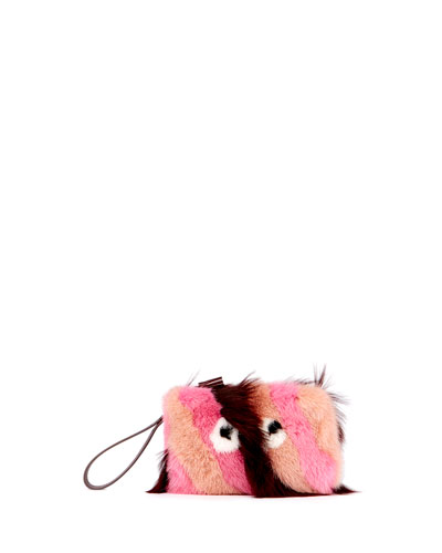 Furry Eyes Clutch Bag