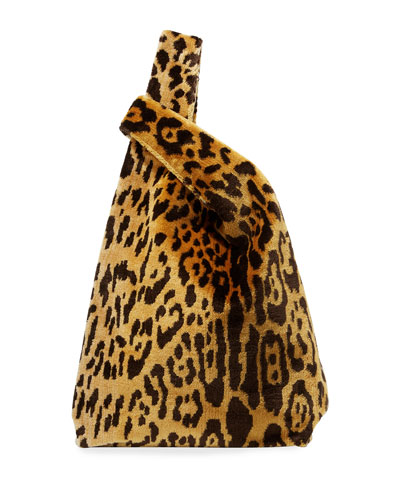 Venetian Leopard Brocade Shopper Tote Bag