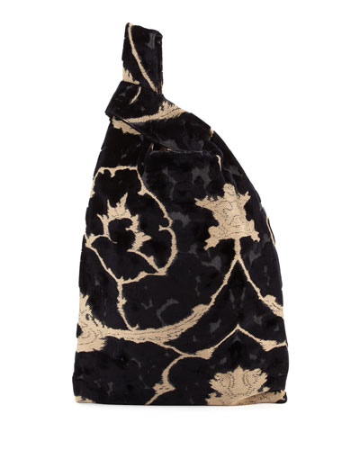 Velvet Brocade Shopper Tote Bag