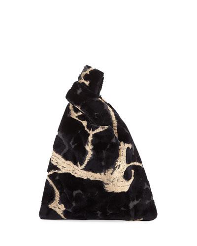 Velvet Brocade Mini Shopper Tote Bag