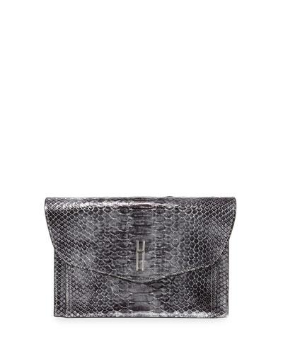 Bobby Python Envelope Clutch Bag