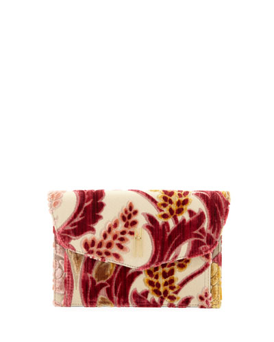 Bobby Cremisi Velvet Brocade Clutch Bag