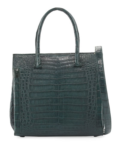 Medium Double-Handle Crocodile Tote Bag
