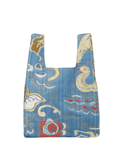 Mini Shopper Jacquard Tote Bag
