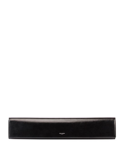 Fetiche Exaggerated East-West Leather Clutch Bag