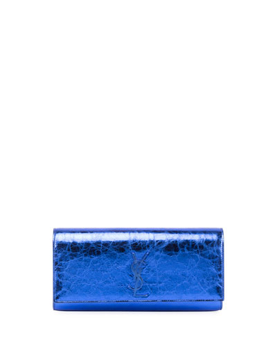 Kate Monogram Crinkled Leather Clutch Bag