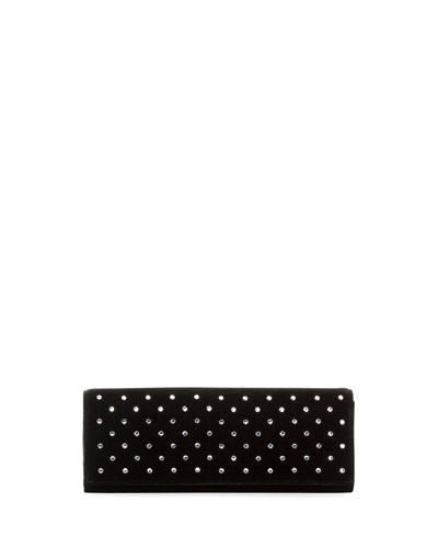 Fetiche Studded Velvet Clutch Bag