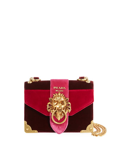 Cahier Velvet Trunk Shoulder Bag