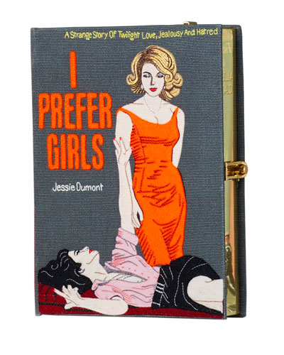 I Prefer Girls Book Clutch Bag