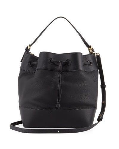 Midnight Calf Leather Bucket Bag