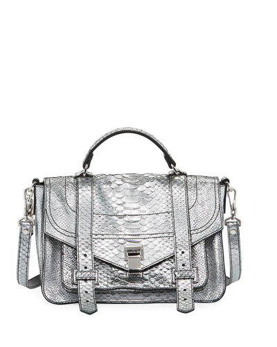 PS1+ Metallic Embossed Satchel Bag