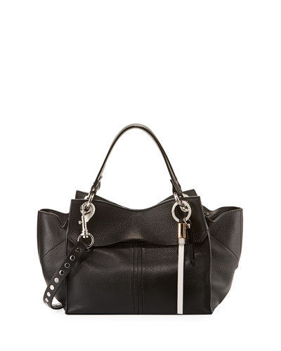 Curl Pebbled Leather Top-Handle Bag