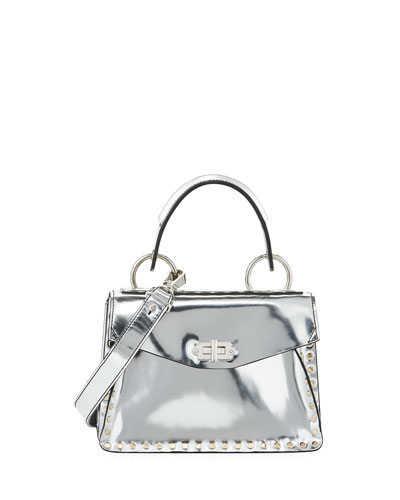 Metallic Small Hava Top-Handle Bag