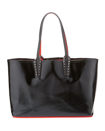 Cabata Spiked Patent Tote Bag