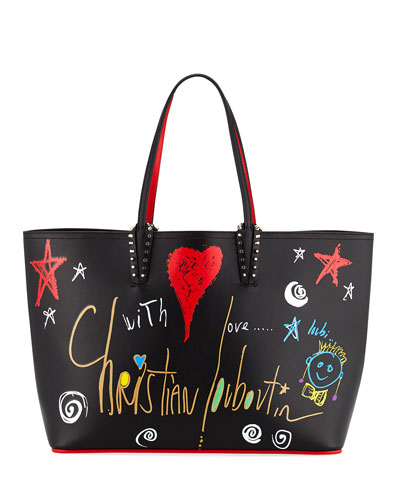 Cabata Calf Loubitag Paris Tote Bag