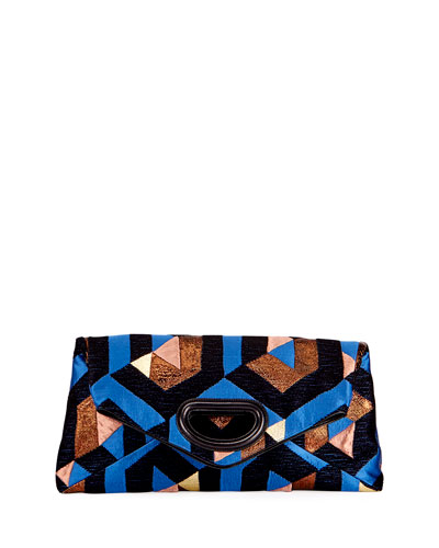 Convertible Patchwork Brocade Clutch Bag