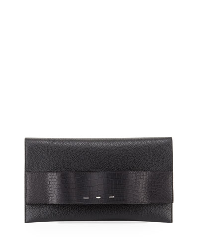 Passe Partout Leather Clutch Bag