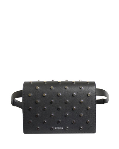Le Belt Bag in Studded Leather - Tonal Hardware