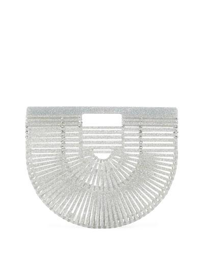 Ark Small Glittered Acrylic Clutch Bag