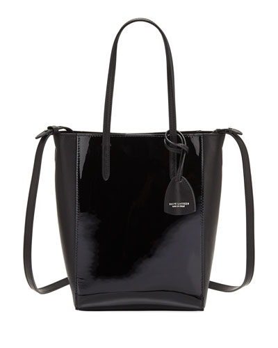 Patent Mini Modern Tote Bag