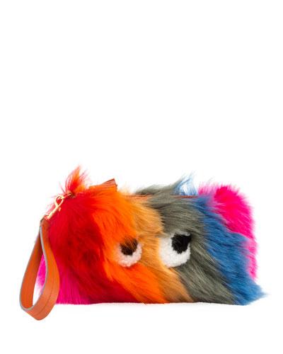 Creeper Fur Clutch Bag