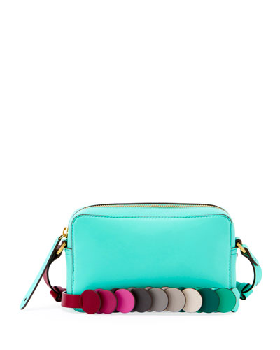 Crossbody Mini Circle Leather Bag