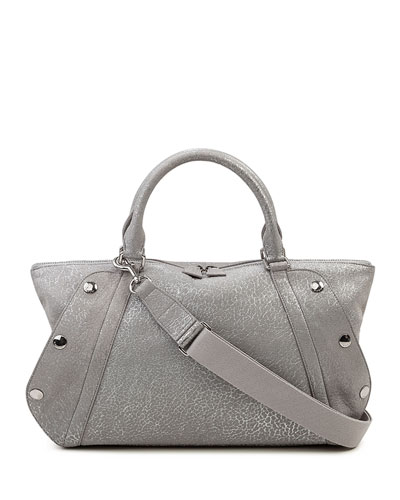 Aimee Small Convertible Washed Calf Leather Satchel Bag