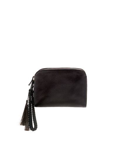 Satin Tassel Wristlet Clutch Bag