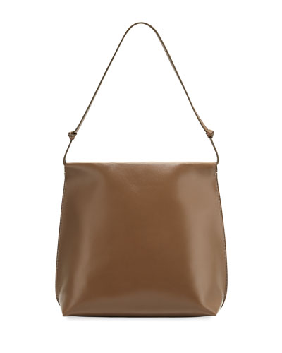 Wander Knotted Leather Shoulder Bag