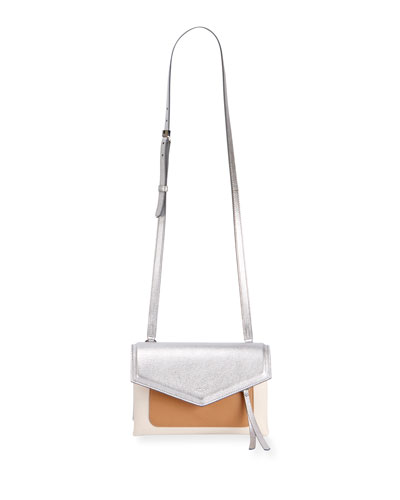Duetto Colorblock Flap-Top Crossbody Bag