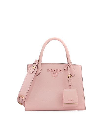 Saffiano Leather Small Tote Bag