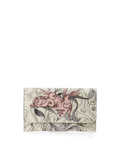 Glace Rabbit Long Calf Wallet