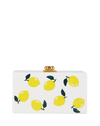 Jean Lemons Box Clutch Bag, White