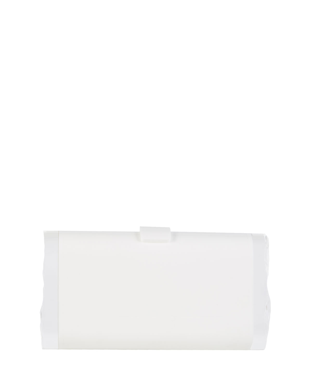 Lara Backlit Box Clutch Bag, White