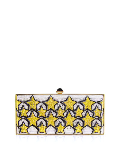 Stars Large Coffered Crystal Clutch Bag