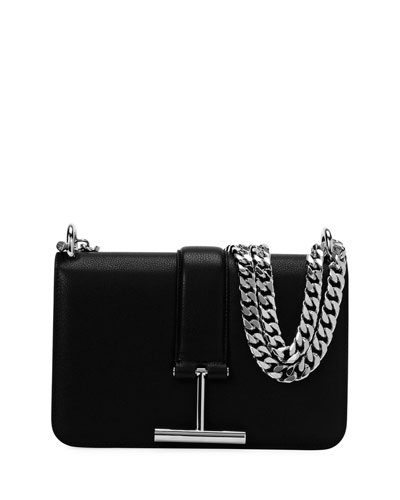Tara Chain Grain Leather Shoulder Bag