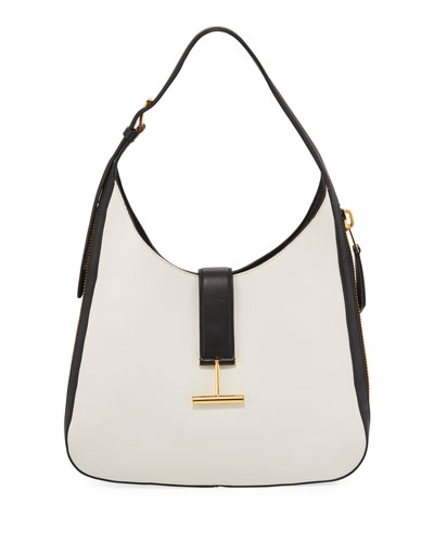 Tara Bicolor Soft Calf Shoulder Hobo Bag