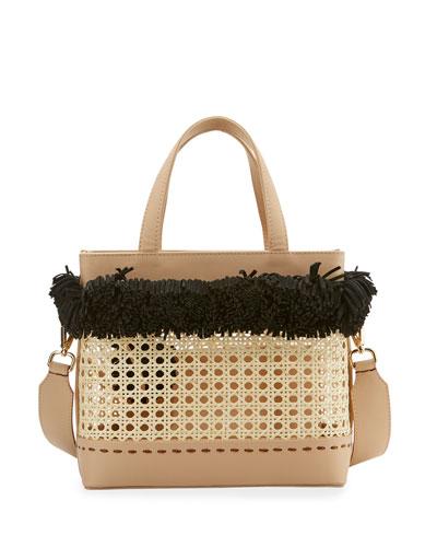 Fey Woven Basket Tote Bag