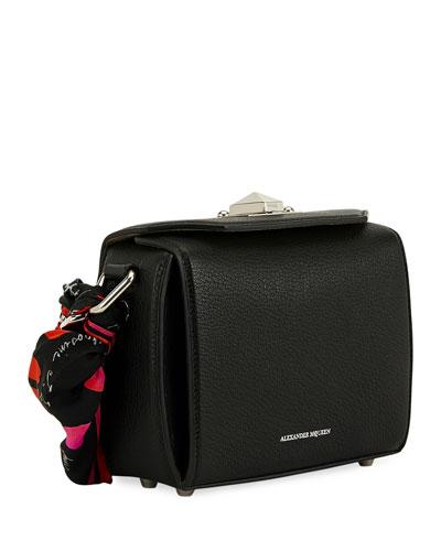 Box 16 Pebbled Silky Leather Crossbody Bag