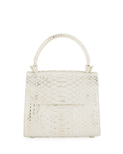 Python Small Top-Handle Crossbody Bag