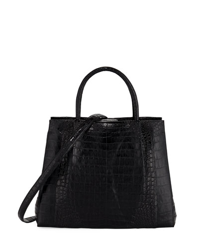 Medium Crocodile Carryall Tote Bag