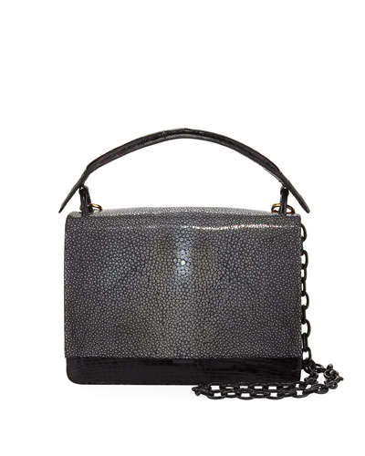 Stingray & Crocodile Flap-Top Bag