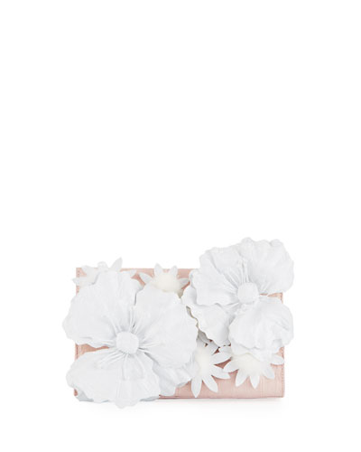 Daisy Crocodile Clutch Bag