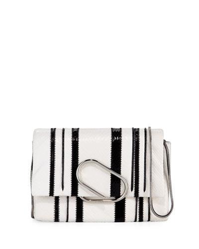 Alix Snake Soft Flap Clutch Bag